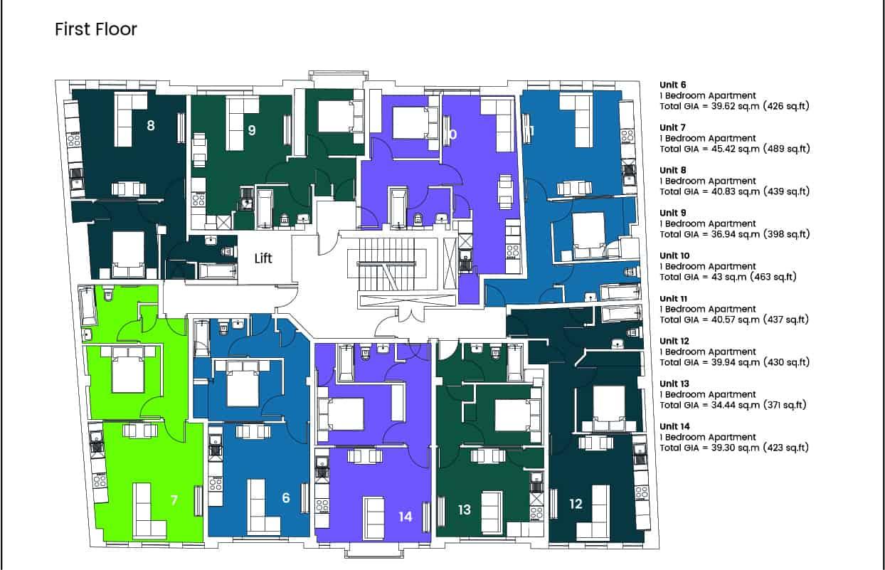 Hampton House Southampton Ocea Floorplan: Commercial to Residential Property Conversion Apartment