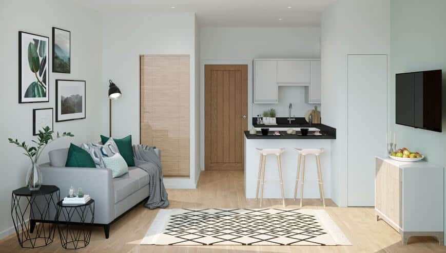 Lance House Interior Commercial to Residential Property Conversion Apartment