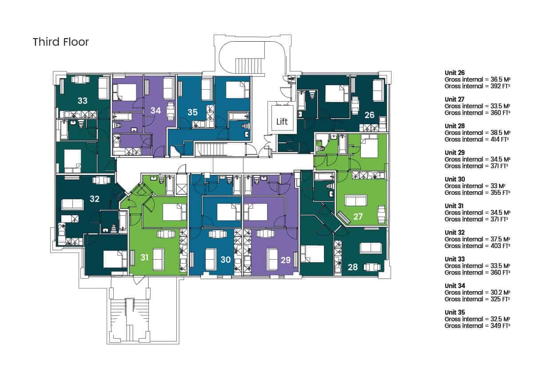 Hampton House Hemel Hempstead Ocea Floorplan: Commercial to Residential Property Conversion Apartment