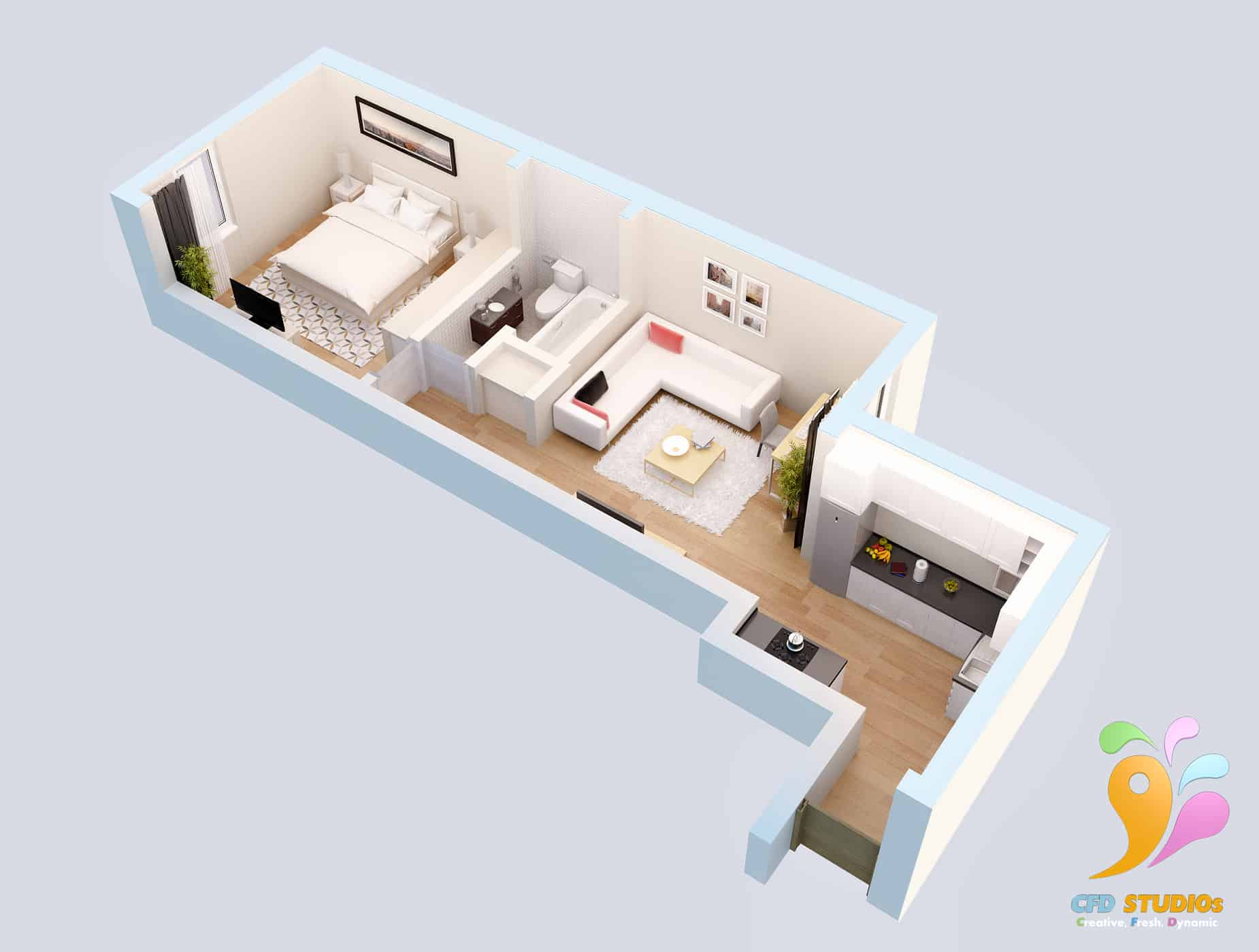 Ocea Floorplan Commercial to Residential Property Conversion Apartment