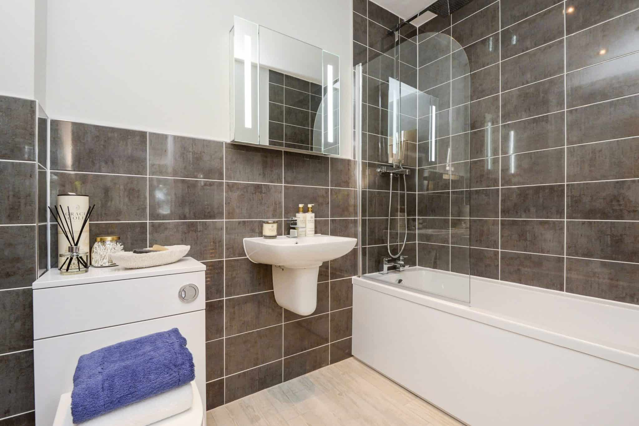 Bathroom Interior Commercial to Residential Property Conversion Apartment