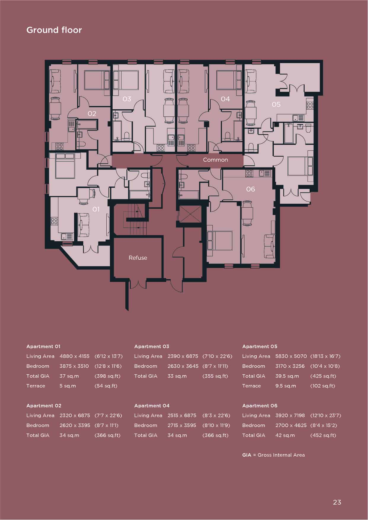 Ocea St Pancras House Basingstoke: Floorplan Commercial to Residential Property Conversion Apartment