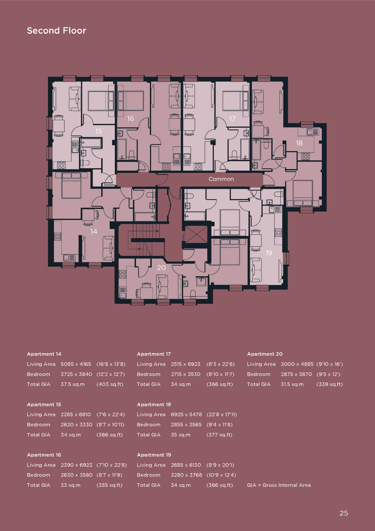 Ocea St Pancras House Basingstoke Floorplan: Commercial to Residential Property Conversion Apartment